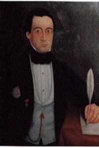 Bernardino José da Sena Freitas. Retrato a óleo, 1.ª metade do século XIX, autor desconhecido (Colecção da Biblioteca Pública e Arquivo Regional de Angra do Heroísmo)
